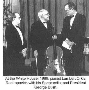 Bob's cello at the White House