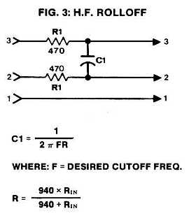Figure 3: High-Frequency Rolloff